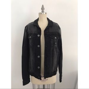 Calvin Klein Jeans Black Acid Wash Jean Jacket
